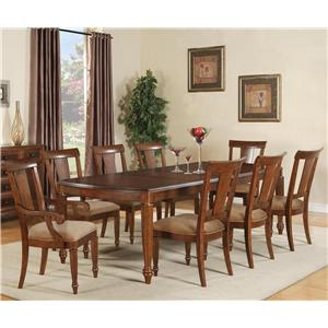Flexsteel Wynwood Collection Brendon 9 Piece Dining Table Set
