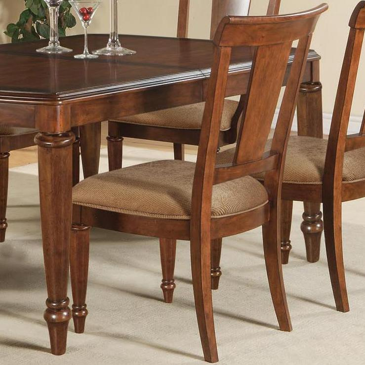 Flexsteel wynwood collection brendon dining side chair for John v schultz dining room table