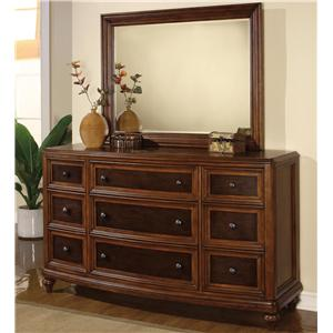 Flexsteel Wynwood Collection Brendon Dresser And Mirror Combination