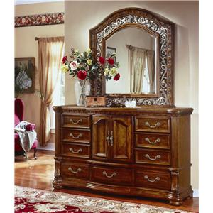Flexsteel Wynwood Collection Cordoba Dresser and Mirror Combination Set