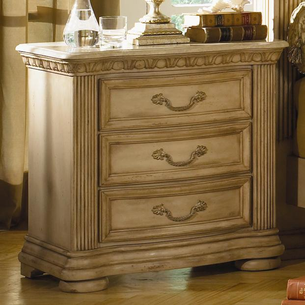 Flexsteel Wynwood Collection Antiguo Blanco Three Drawer ...
