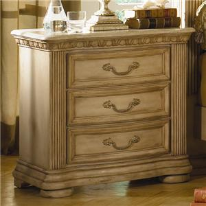 Flexsteel Wynwood Collection Antiguo Blanco Marble Top Nightstand