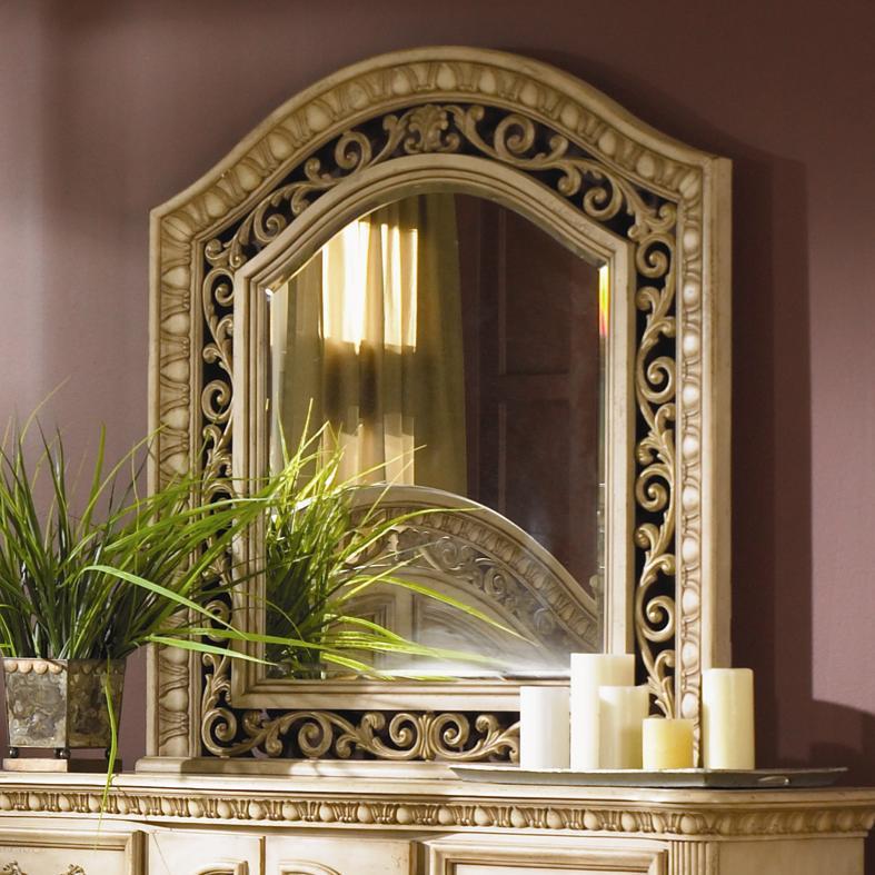 Flexsteel Wynwood Collection Antiguo Blanco Mirror - Item Number: 1636-81