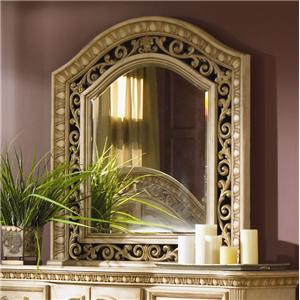 Flexsteel Wynwood Collection Antiguo Blanco Mirror