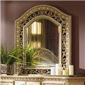 Flexsteel Wynwood Collection Antiguo Blanco Landscape Dresser Mirror