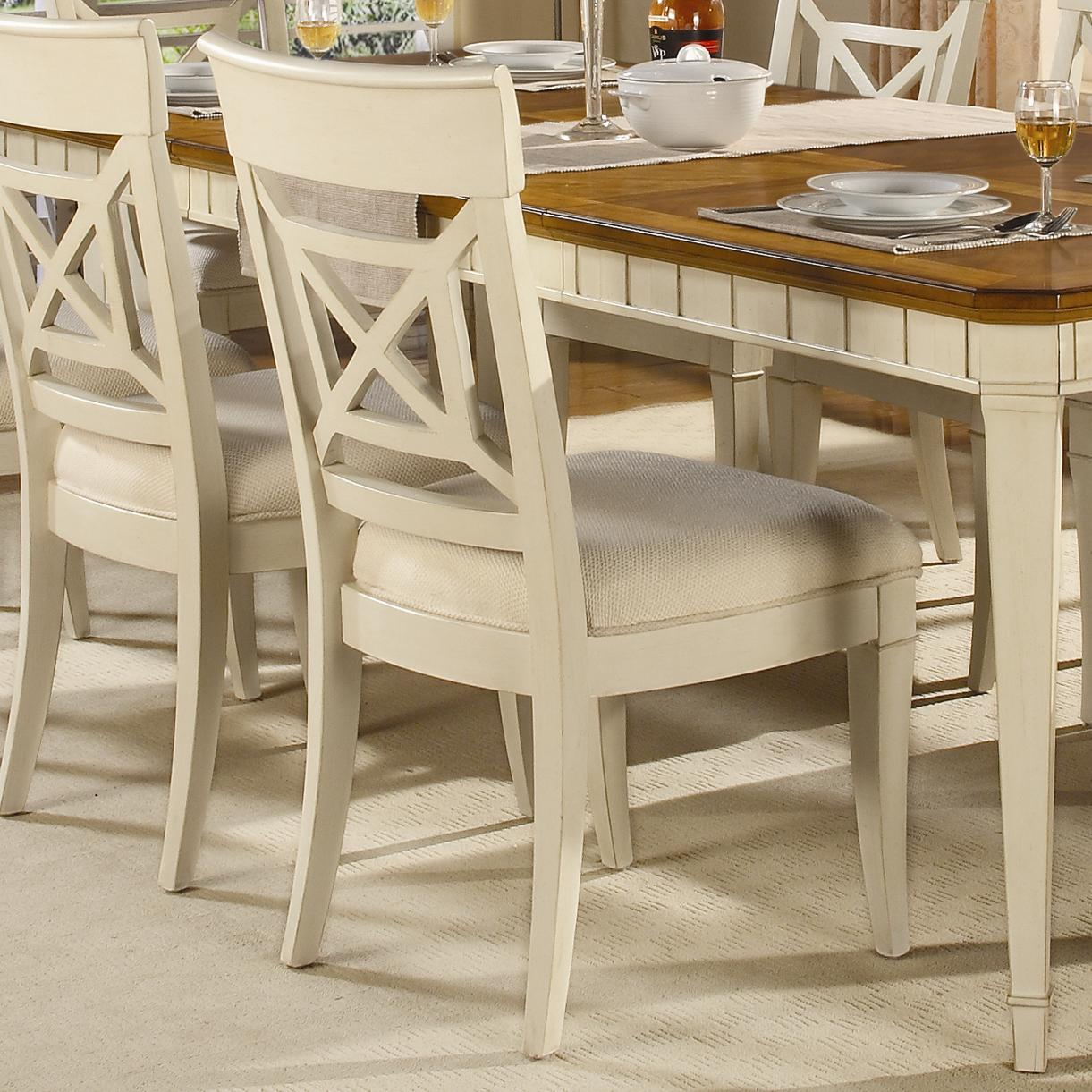 Garden Walk Cross Back Dining Side Chair By Flexsteel Wynwood Collection