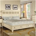 Flexsteel Wynwood Collection Garden Walk Queen Panel Storage Bed - Item Number: 6634-90Q1+90Q4+90Q5