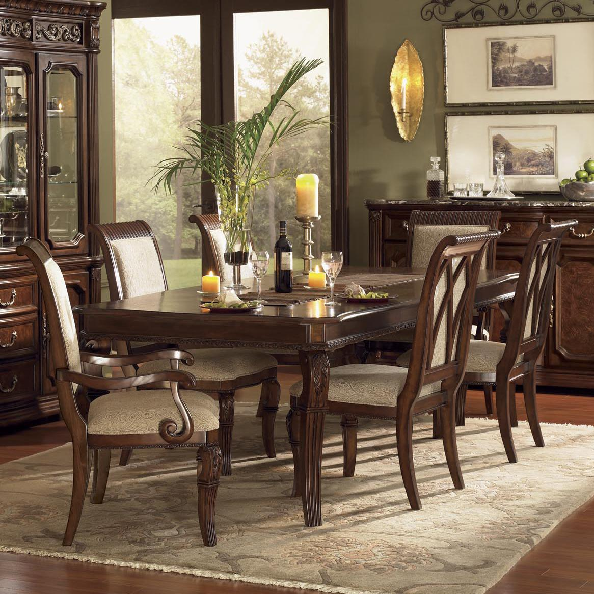 Flexsteel Wynwood Collection Granada Dining Room Set With Upholstered Chairs    AHFA   Dining 7 (or More) Piece Set Dealer Locator