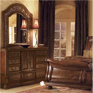 Flexsteel Wynwood Collection Granada Dresser With Mirror