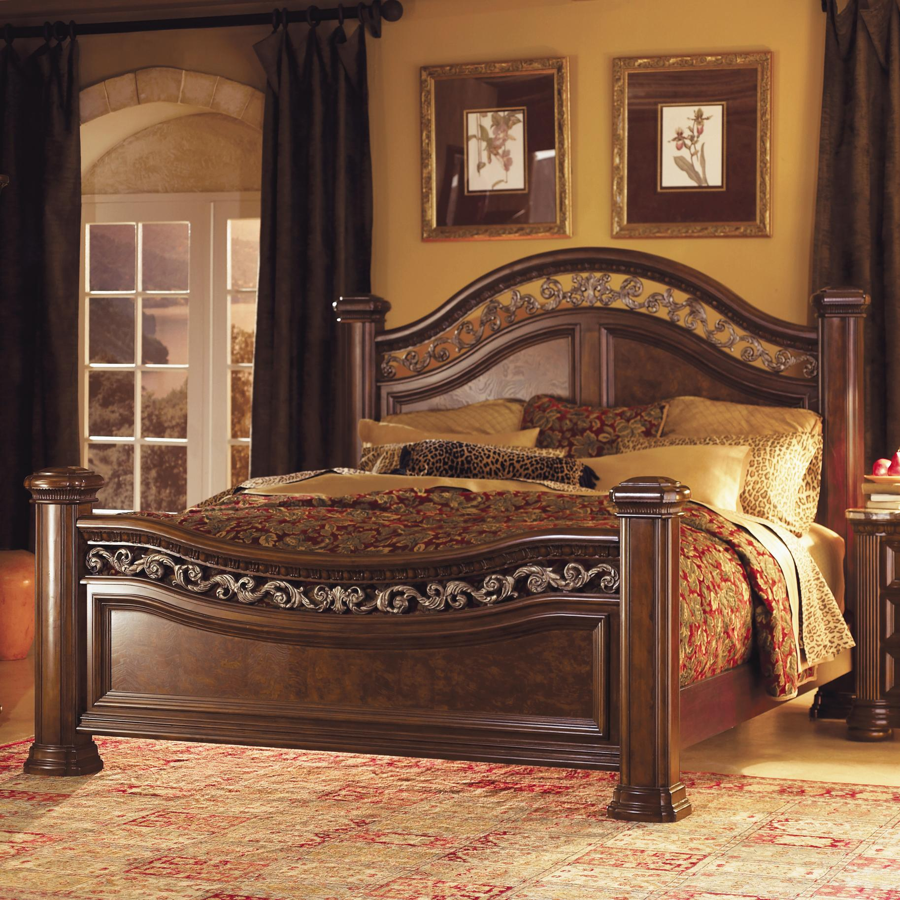 Flexsteel Wynwood Collection Granada King Mansion Bed With Wrought Iron Accents Ahfa Headboard Footboard Dealer Locator