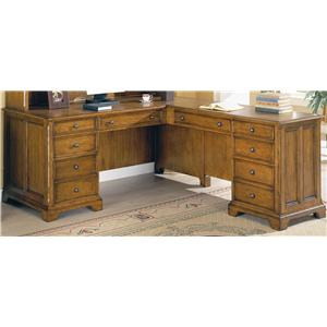 Flexsteel Wynwood Collection Halton Hills Double Pedestal Desk