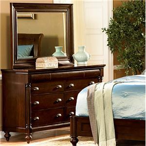 Flexsteel Wynwood Collection Harrison Dresser And Mirror Combination