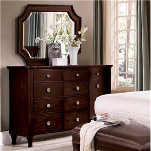Flexsteel Wynwood Collection Sutton Place Dresser U0026 Landscape Mirror