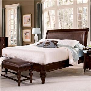 Flexsteel Wynwood Collection Sutton Place Queen Leather Platform Bed