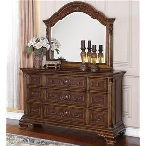 Flexsteel Wynwood Collection Talavera Dresser and Mirror Set
