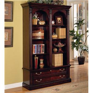 Flexsteel Wynwood Collection Wellington Double Bookcase
