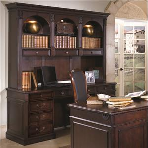 Flexsteel Wynwood Collection Wellington Executive Desk and Hutch Set