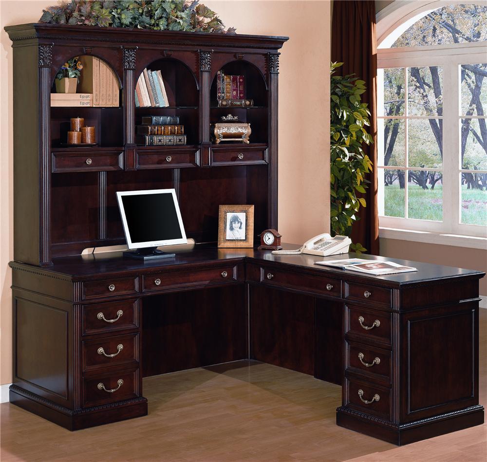 Flexsteel Wynwood Collection Wellington L Desk With Hutch Ahfa Dealer Locator