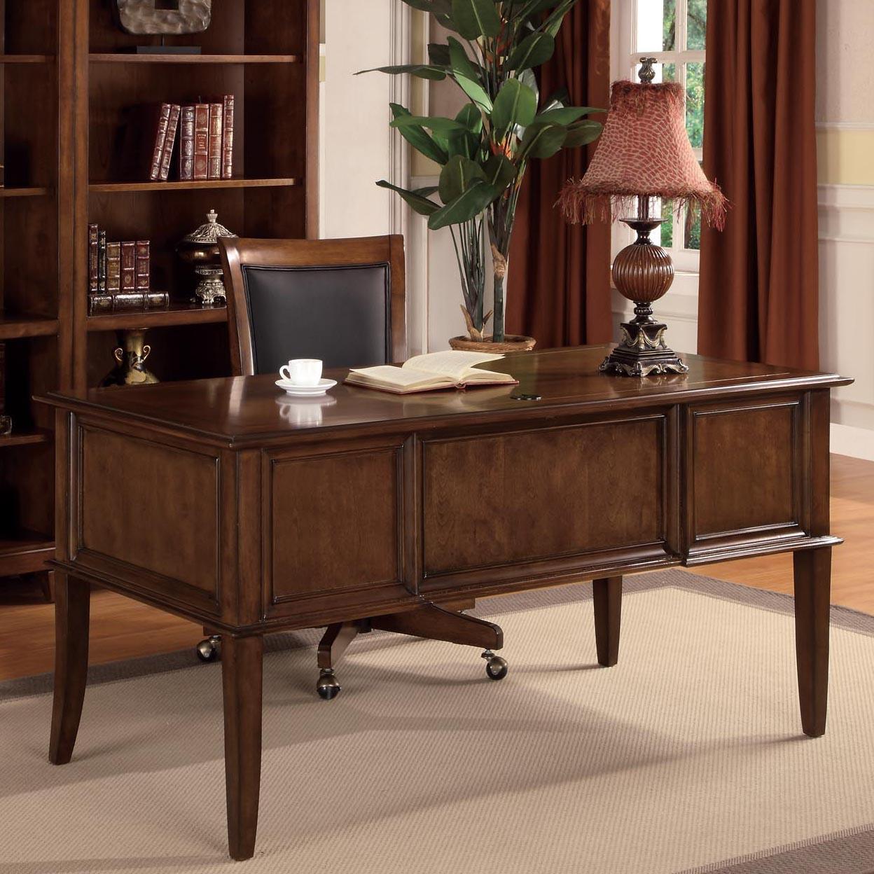Flexsteel Wynwood Collection Westhaven Office 4 Drawer Writing Desk   AHFA    Table Desk Dealer Locator