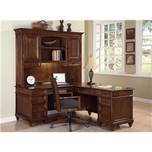 Flexsteel Wynwood Collection Westhaven Office L Shaped Desk