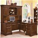 Wynwood, A Flexsteel Company Woodlands L-Shaped Desk and Hutch - Item Number: 1207-48+44