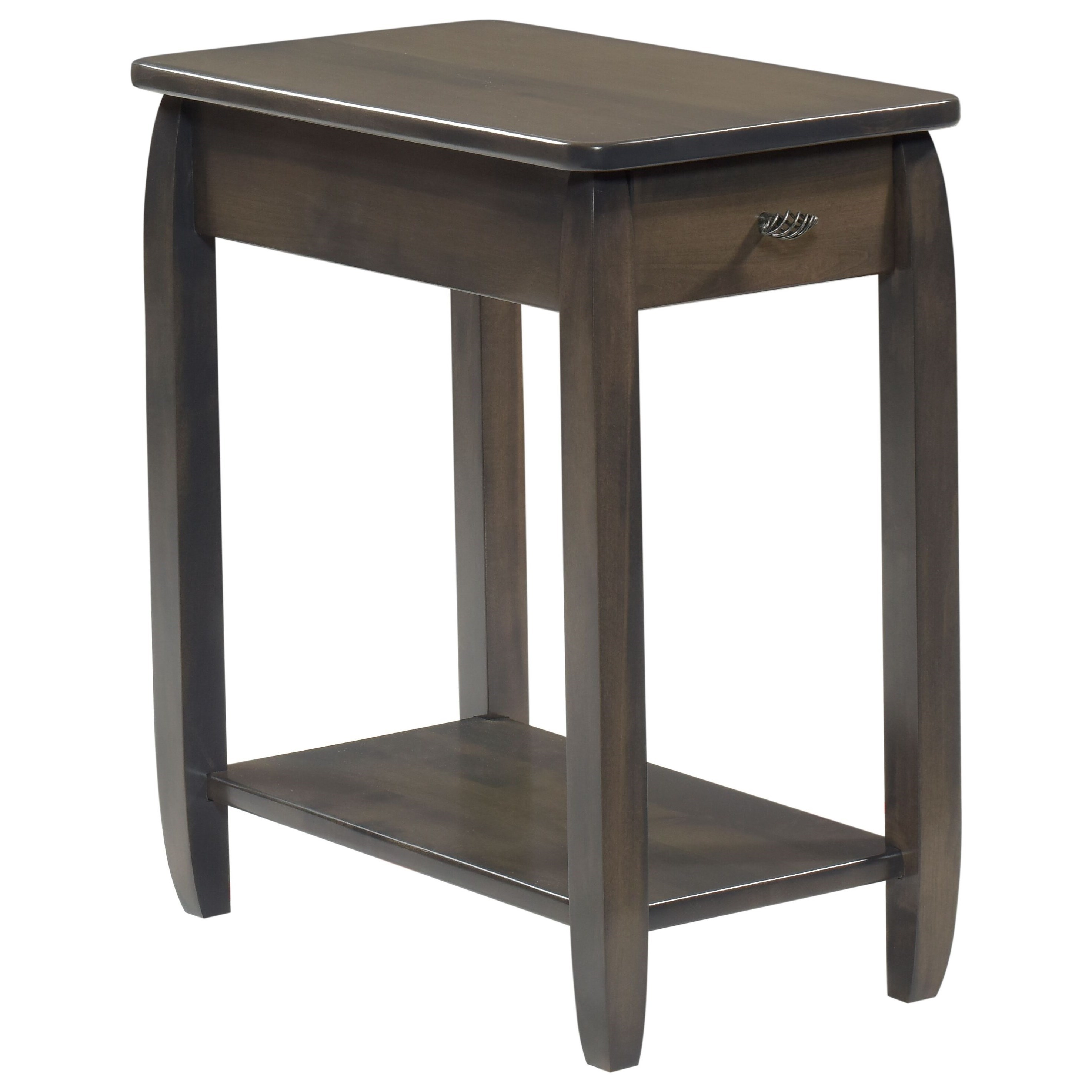 Apache Chairside Table by Y & T Woodcraft at Saugerties Furniture Mart