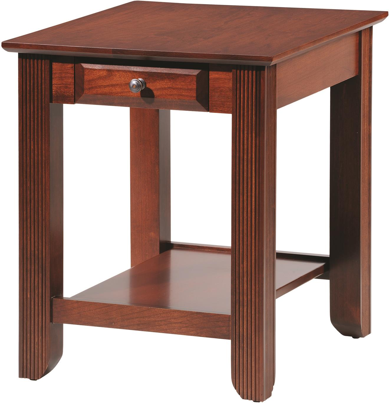 Arlington End Table by Y & T Woodcraft at Saugerties Furniture Mart