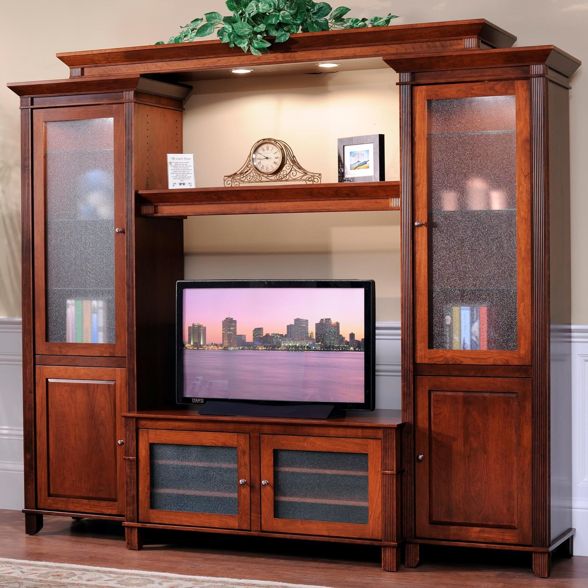 Arlington Entertainment Wall by Y & T Woodcraft at Saugerties Furniture Mart