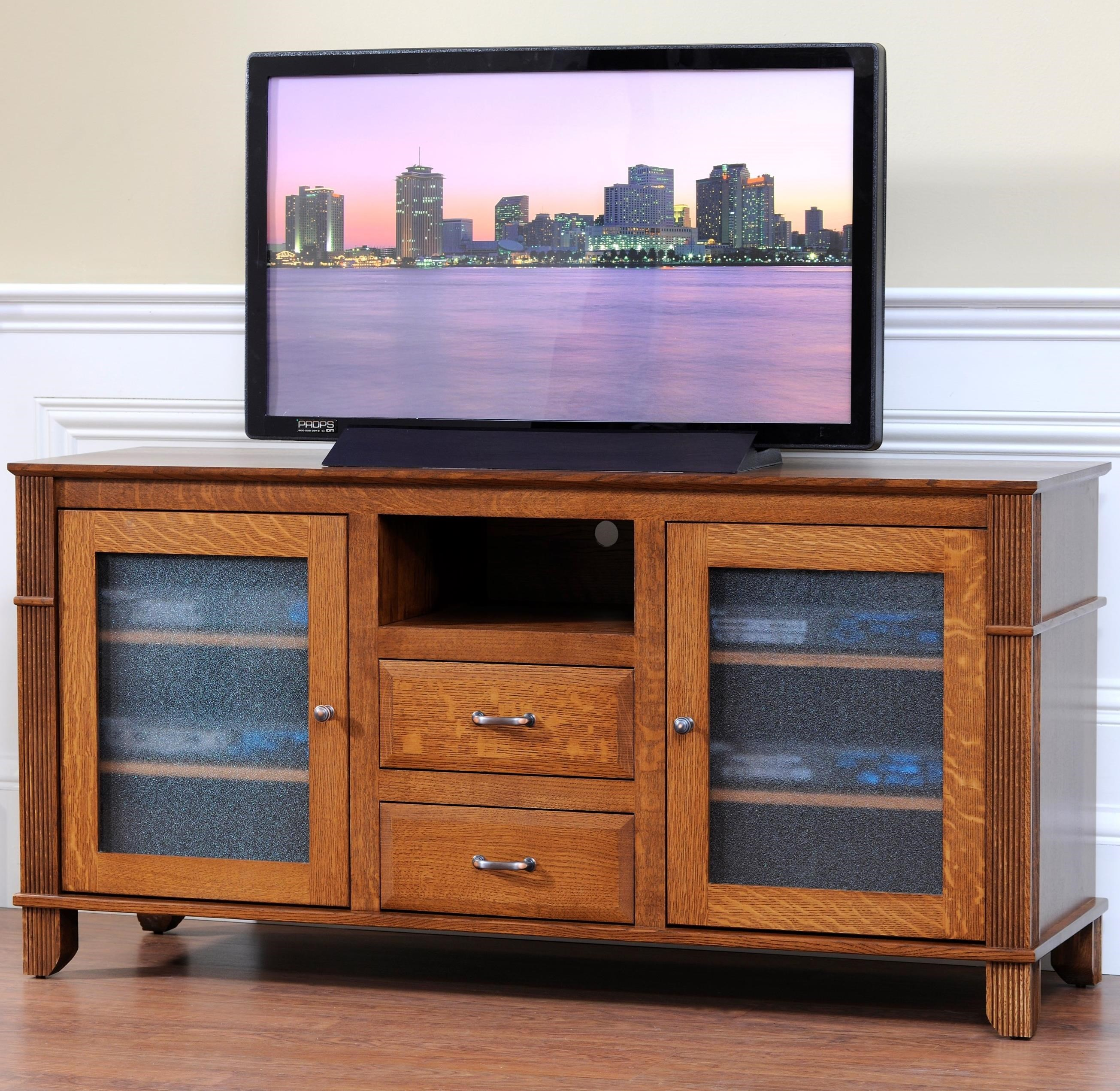 "Arlington 60"" TV Stand by Y & T Woodcraft at Saugerties Furniture Mart"