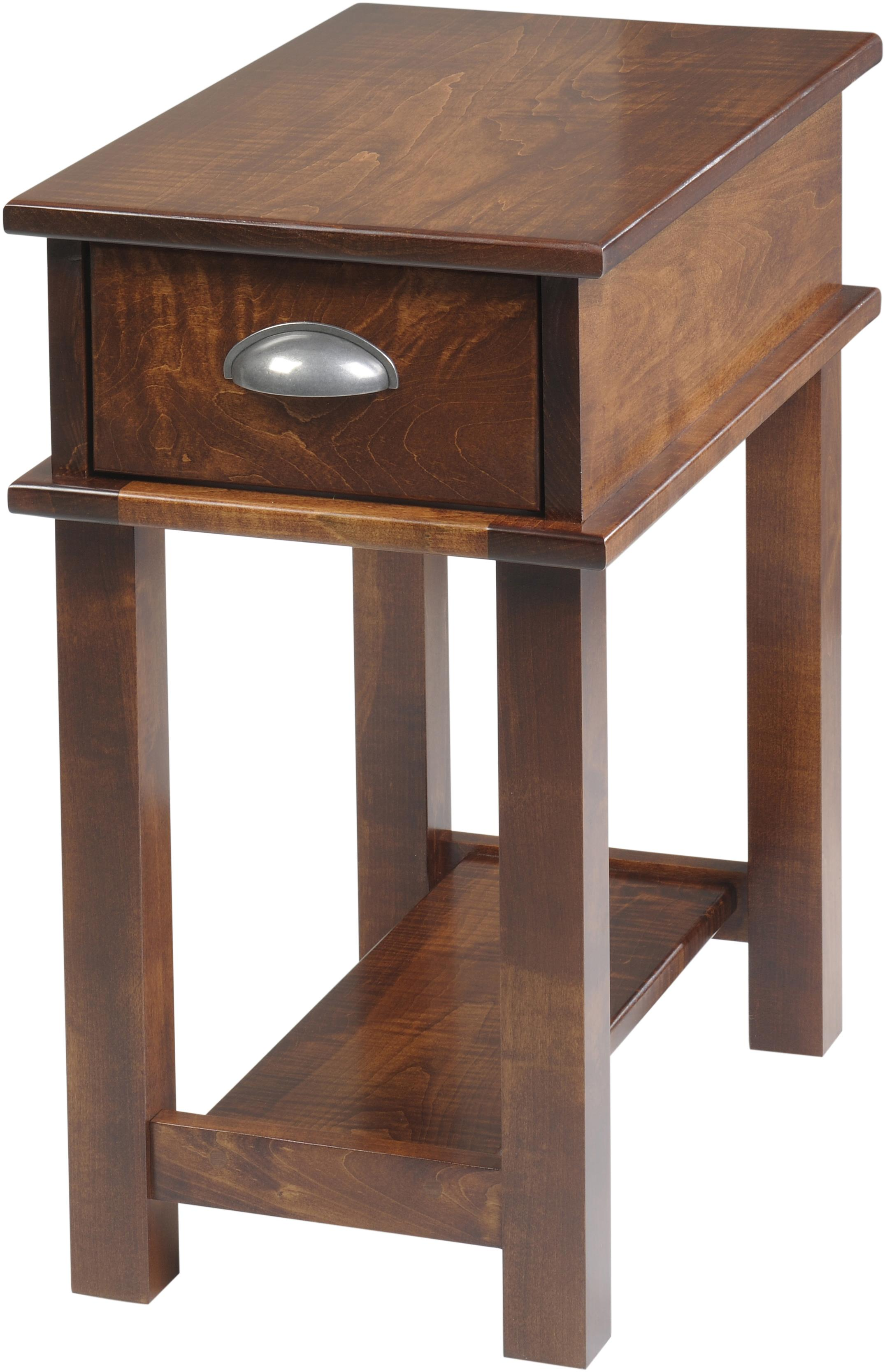 Buckhannon Chairside Table by Y & T Woodcraft at Saugerties Furniture Mart