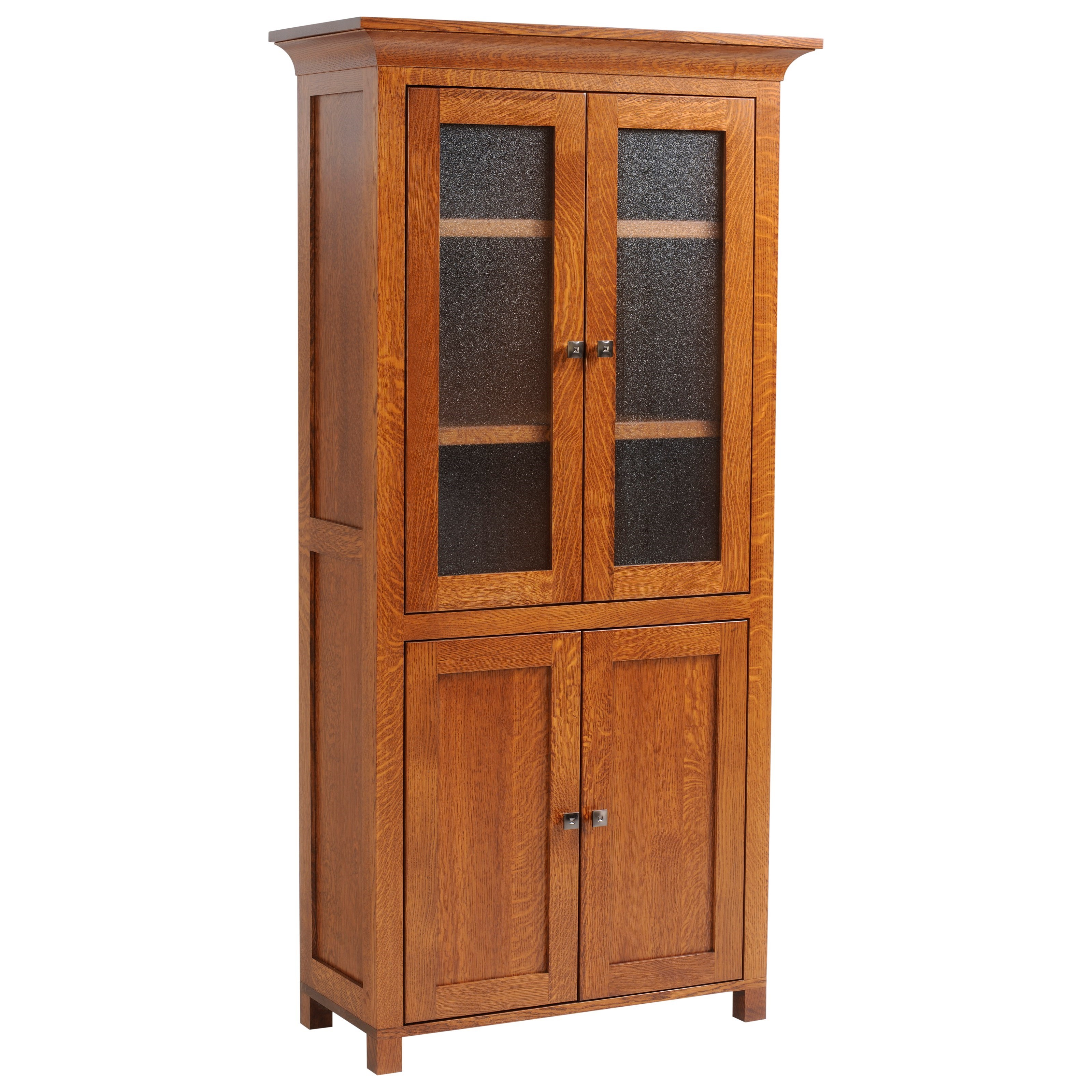 Coventry Mission Bookcase with Doors by Y & T Woodcraft at Saugerties Furniture Mart