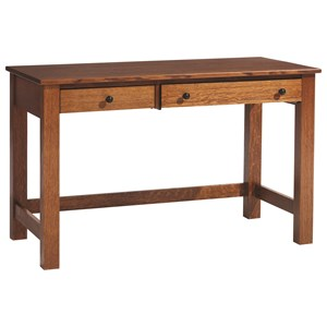 Y & T Woodcraft Rivertown Home Office Desk with Laptop Pull-Out Drawer