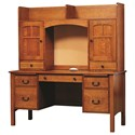 Y & T Woodcraft Rivertown Home Office Desk and Hutch - Item Number: 2075+2055
