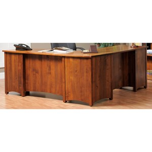 Y & T Woodcraft Rivertown Home Office L-Desk and Hutch