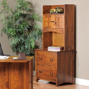 Y & T Woodcraft Rivertown Home Office Lateral File Cabinet and Hutch