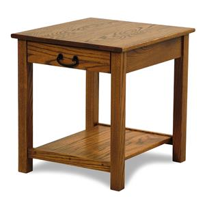Y & T Woodcraft Seeley Amish Built Oak EndTable