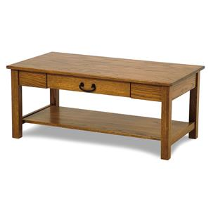 Y & T Woodcraft Seeley Amish Built Oak Cocktail Table