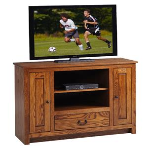 "Y & T Woodcraft TV Stands Amish Solid Wood 52"" TV Console"
