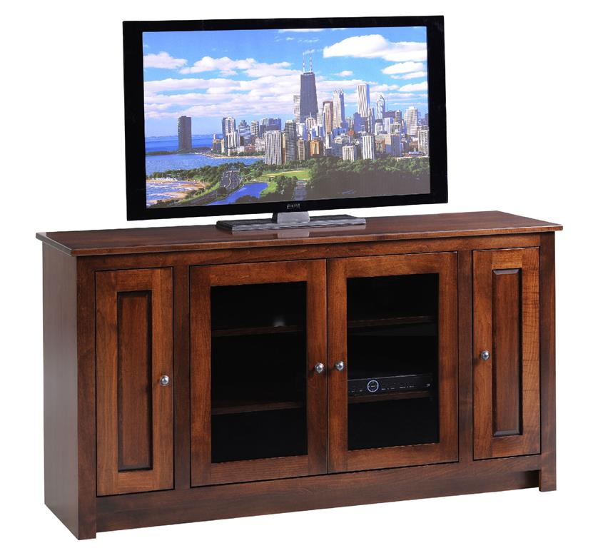 """Amish Solid Wood 60"""" TV Console"""