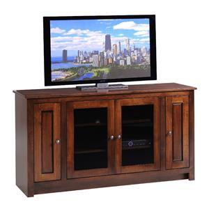 "Y & T Woodcraft TV Stands Amish Solid Wood 60"" TV Console"