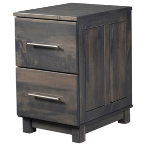 Y & T Woodcraft Urban Office 2-Drawer File Cabinet