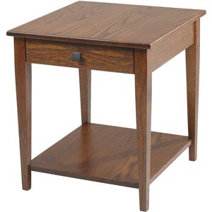 Y & T Woodcraft Woodland Shaker End Table with Shelf