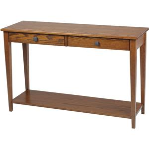 Y & T Woodcraft Woodland Shaker Hall Table with Shelf