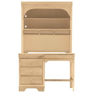 Young America All Seasons Student Desk Hutch