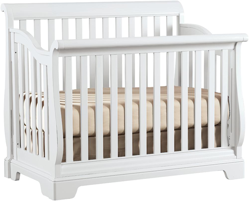97984aaba2e All Seasons Built to Grow Sleigh Convertible Crib with Slats by Young  America