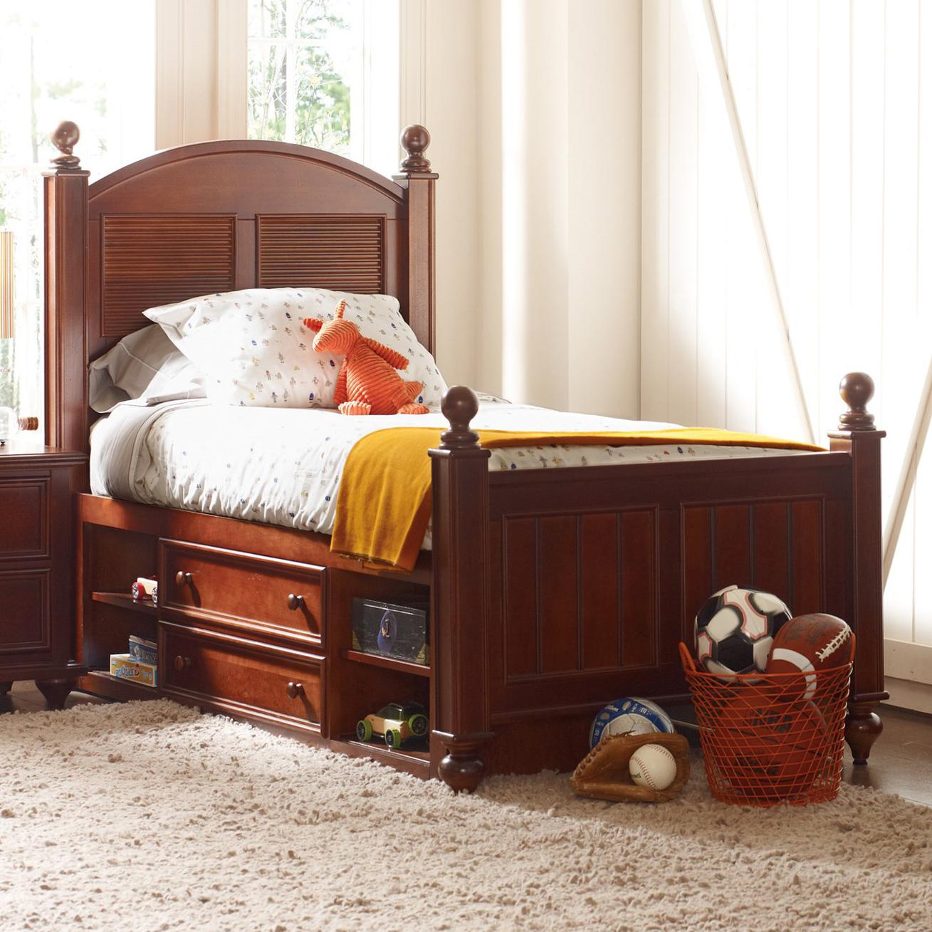 Young America Myhaven Full Low Country Bed Storage Drawers Ahfa Headboard Footboard Dealer Locator