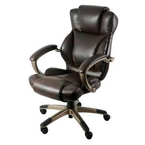 Dark Brown Leather Executive Chair