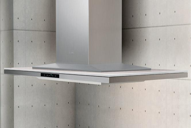 """Arc Collection 36"""" Island Range Hood  by Zephyr at Furniture and ApplianceMart"""