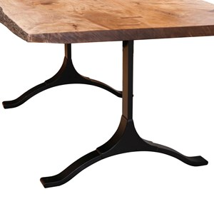 Zimmerman Chair Live Edge Furniture Iron Table Base