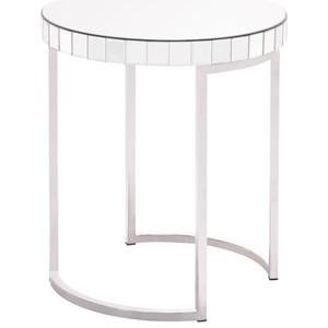 Mirrored Circular End Table